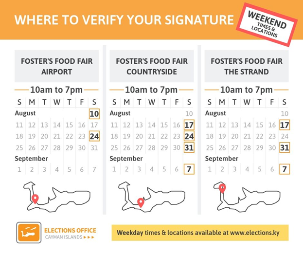 where to verify on a weekend